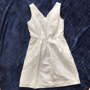 White J. crew Jacquard Dress